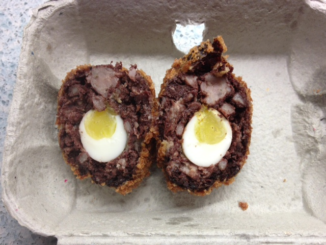 blackpudding scoch egg